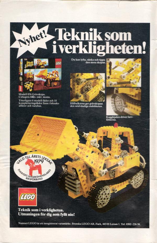 LEGO Grävskopa från 1979