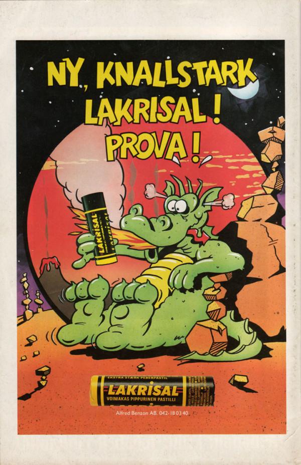 Lakrisal annons från 80-talet
