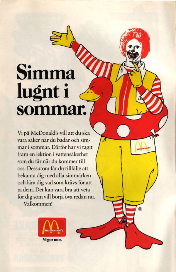 Simkunskap med McDonald's