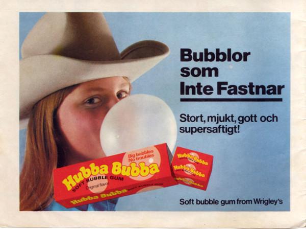 Hubba Bubba som inte fastnar